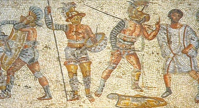 Gladiators-from-the-Zliten-mosaic-400